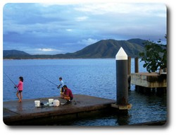Fishing from the Cooktown wharf