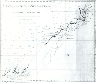 Chart of East Coast of New Holland