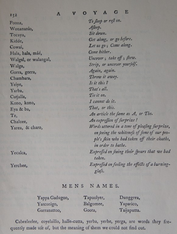 First translations of the Guugu Yimithirr language