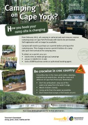 N.P. Campsite bookings e-permit information