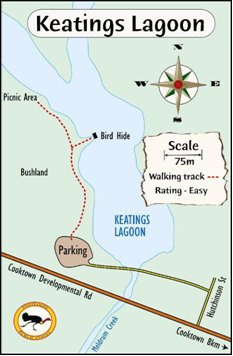 Keatings Lagoon Walking Trail Map