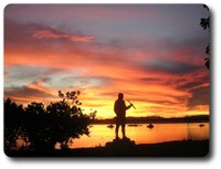 Captain Cook at sunset, Endeavour River