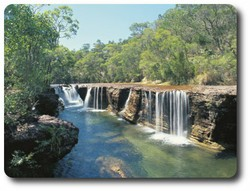 Eliot Falls, Heathlands, Queensland. Courtesy of Tourism Queensland