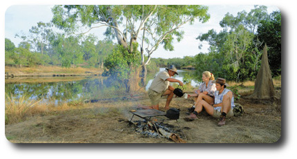 Kalpowar Crossing Camping Lakefield National Park, Queensland. Courtesy of Tourism Queensland