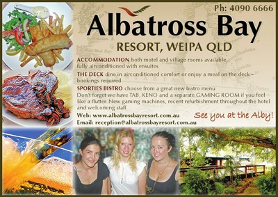 Advert for Albatross Bay Resort