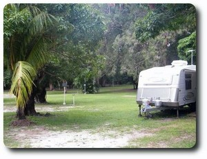 Camping grounds at the Peninsula Caravan Park