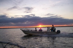 Custom sportfishing sunset
